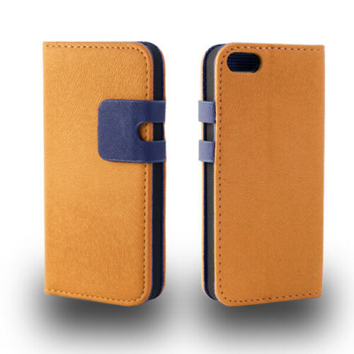 Apple iPhone4/4s Premium Textured Brown Leather Wallet Case
