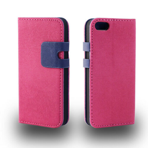 Apple iPhone4/4s Premium Textured Pink Leather Wallet Case