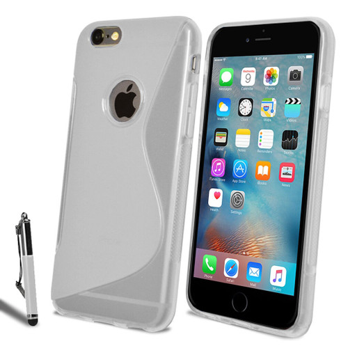Apple Iphone 4s  Slim Soft Silicone Gel Case Clear Cover