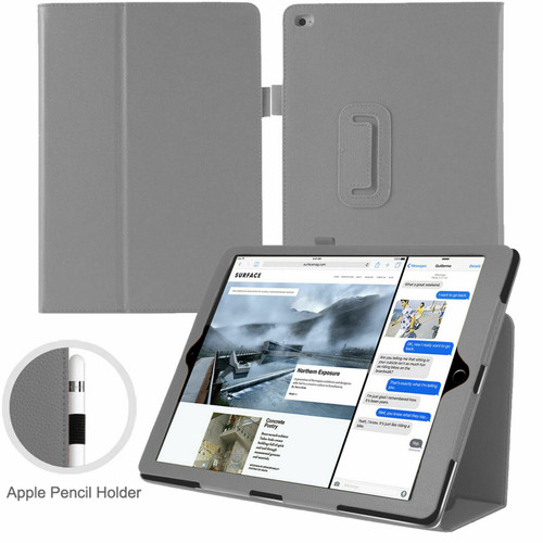 Apple iPad 10.2 7th Generation 2019 Grey Magnetic PU Leather Stand Case