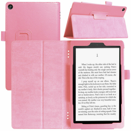 Amazon Kindle Fire  HD 8 (2017) Rose Gold Tablet Magnetic Smart  Stand  Case