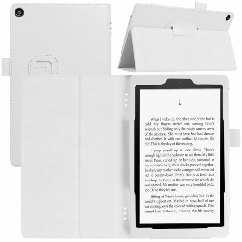 Amazon Kindle Fire  HD 8 (2017) White Tablet Magnetic Smart  Stand  Case