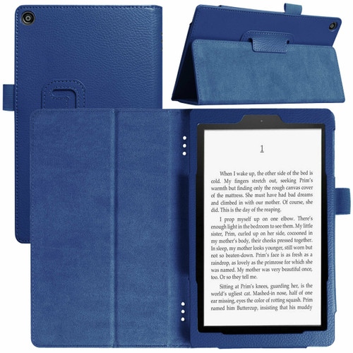 Amazon Kindle Fire  HD 8 (2017) Navy Tablet Magnetic Smart  Stand  Case
