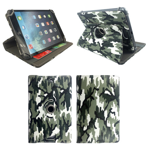 Amazon Kindle Fire  HD 8 (2017) (2018) Camouflage Tablet Magnetic Smart  Stand  Case