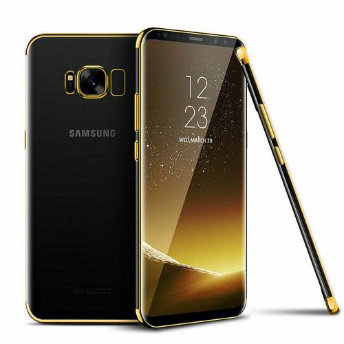 Samsung Galaxy S8 Plus Shockproof Gel Bling Gold Bumper case