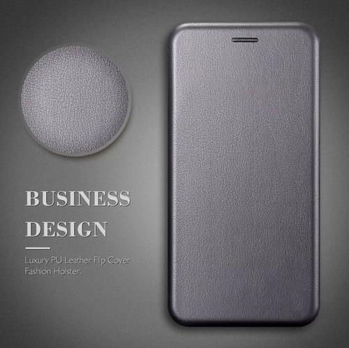 Samsung Galaxy S7 Edge Grey Smart Luxury Leather Wallet Case