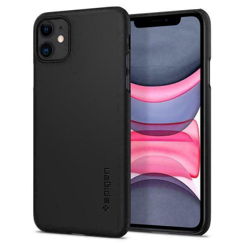 Spigen Apple iPhone  11  Spigen Thin Fit Cover Case - Black