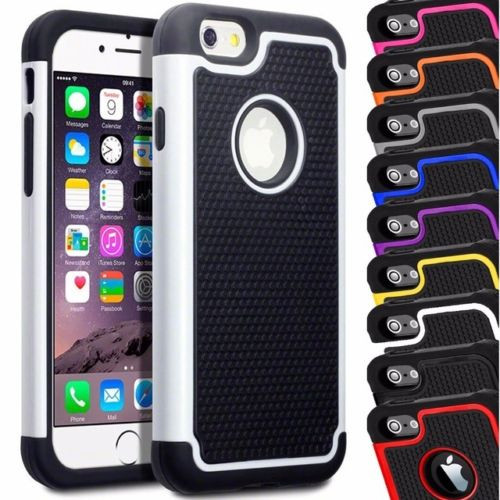 Apple Iphone 4/4s White Shock Proof Dual  Layer Case