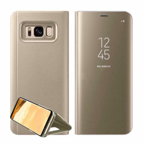 Samsung Galaxy S9 Plus  Mirror View Stand Cover Gold