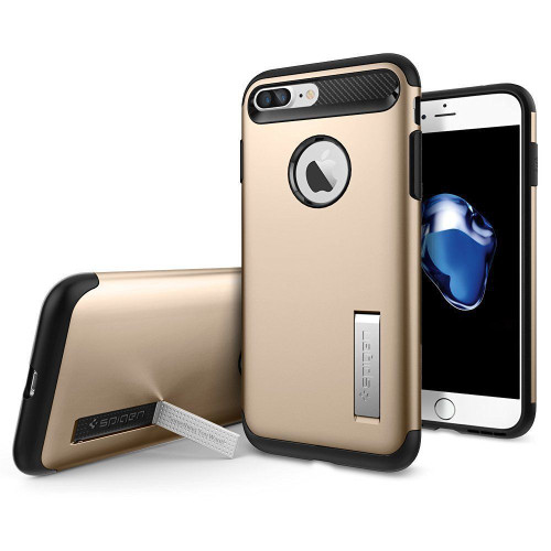 iPhone X  Spigen Case Slim Armor Champagne  Gold
