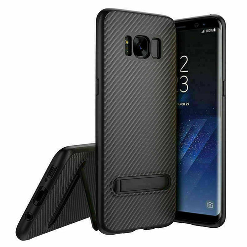 Samsung Galaxy Note 8 Black Shockproof Stand Cover + Screen