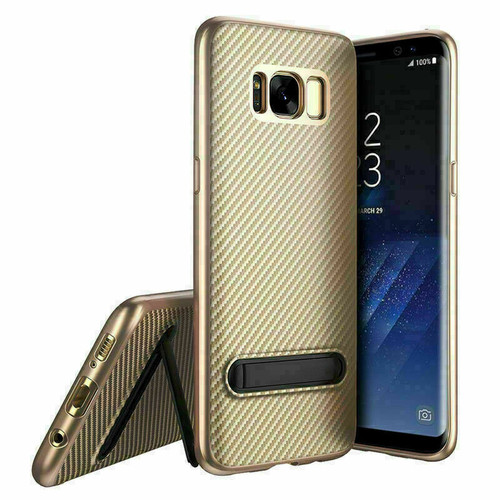 Samsung Galaxy Note 8 Gold Shockproof Stand Cover + Screen