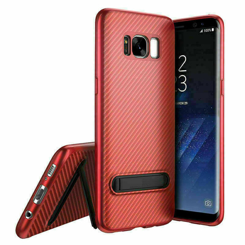 Samsung Galaxy Note 8 Red Shockproof Stand Cover + Screen