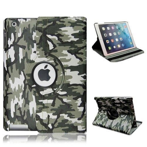 Green Camouflage PU Leather 360 Rotating Case for iPad  pro 10.5 2017