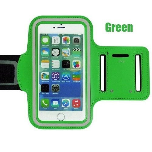 Apple iPhone 11 Pro Max   Green Gym Running Jogging Arm Band Sports  Case Holder Strap