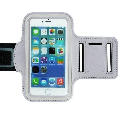 Apple iPhone 11 Pro Max  White Gym Running Jogging Arm Band Sports  Case Holder Strap