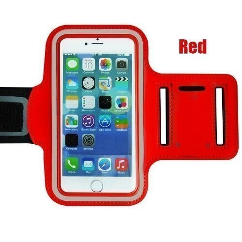 Samsung Galaxg S10 10e 10 plus Red Gym Running Jogging Arm Band Sports  Case Holder Strap