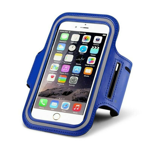 Samsung Galaxy S10 10e 10 plus Blue Gym Running Jogging Arm Band Sports  Case Holder Strap