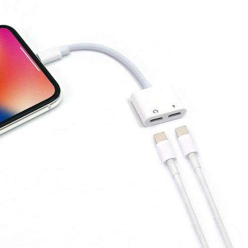2 in 1 Audio Headphone & Charging Cable Adapter for Iphone 7 8 X XS 11 PRO