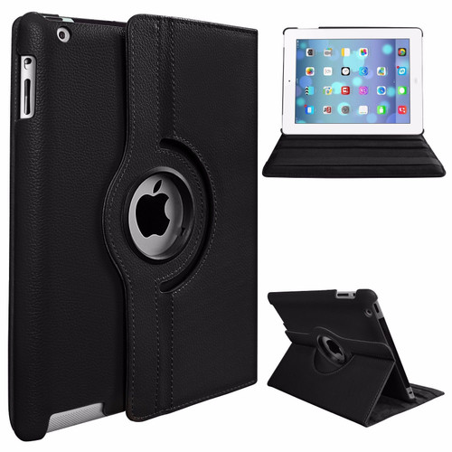 Apple iPad Pro 12.9 2015/2017 (1st/2nd Generation) Black Luxury Magnetic Flip Smart Stand Leather Case