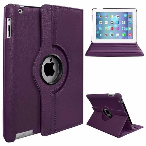 Apple iPad Pro 12.9 2015/2017 (1st/2nd Generation) Purple Luxury Magnetic Flip Smart Stand Leather Case