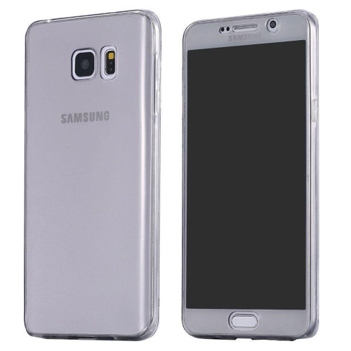 Black Samsung S7  Shockproof 360 Silicone Protective Soft Clear Case Cover