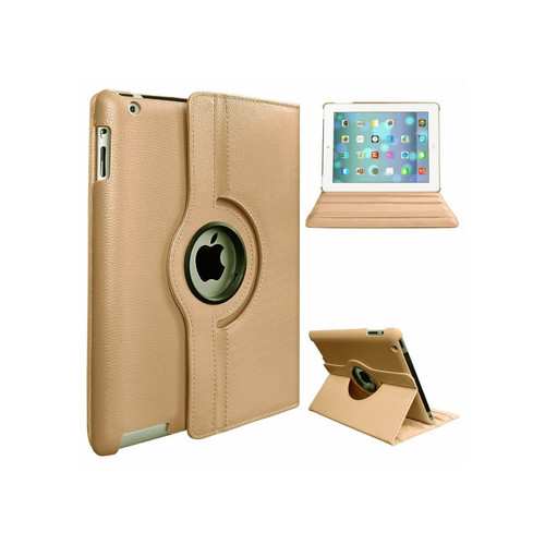 Gold PU Leather 360 Rotating Case for iPad Air 2(2014)