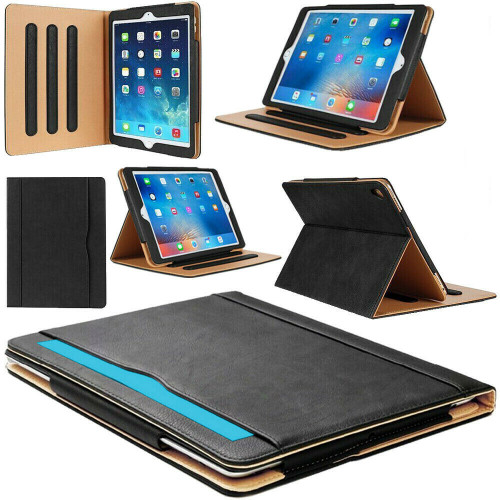 Genuine Leather Tan black Case for iPad Air 2(2014)