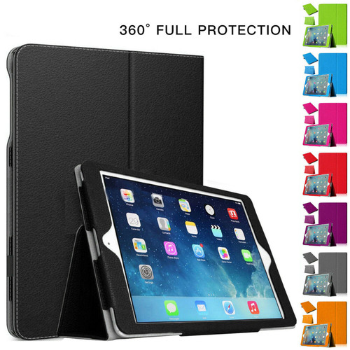 iPad Air 2(2014) Magnetic Stand Flip Black Cover