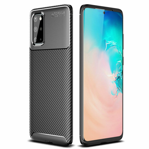 Samsung Galaxy S20 Plus Carbon Fibre Slim Soft Shockproof Case