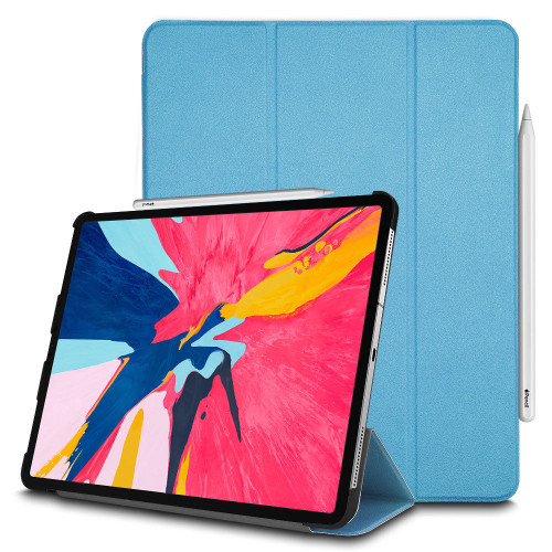 Apple iPad Pro 12.9 2018 Smart stand Sky Blue Luxury Magnetic Case