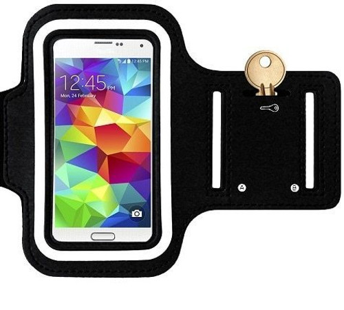 Samsung Galaxy S6  Sports Running Gym Armband Strap Case Cover Black