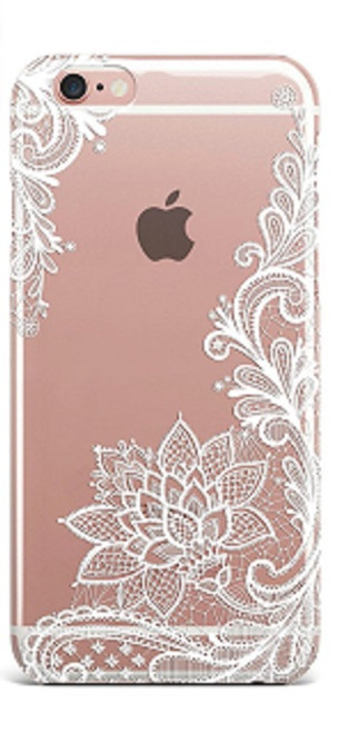 Apple iPhone 6 Plus Wedding Lace White Silicon Case