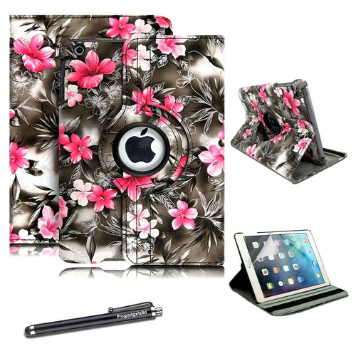 Apple iPad Pro 10.5(2017) 360 Rotating Dark Flower Stand Leather Case