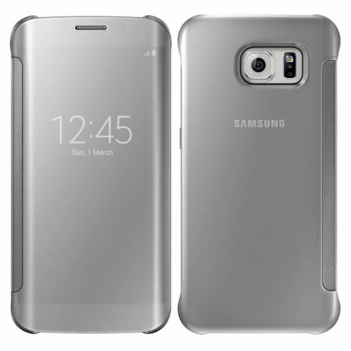 Samsung Galaxy S6 Edge Mirror View Silver case