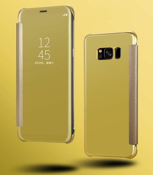 Samsung Galaxy S6 Edge Mirror View  Gold case