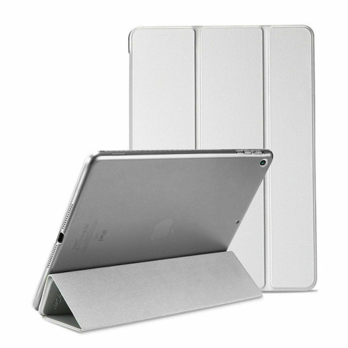Apple iPad 10.2 7th Generation 2019 Silver Slim  PU Leather Stand Case