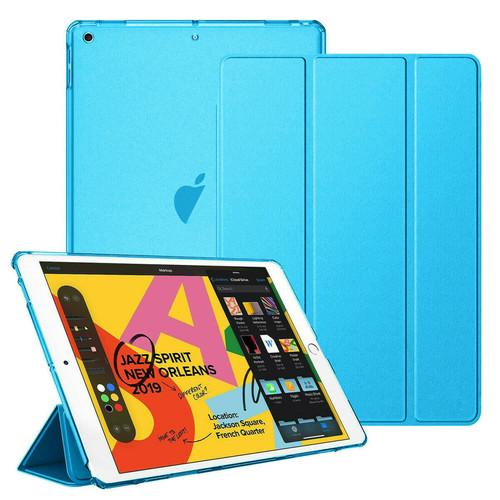 Apple iPad 10.2 7th Generation 2019  Aqua Slim  PU Leather Stand Case