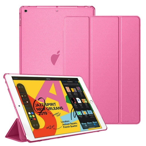 Apple iPad 10.2 7th Generation 2019  Pink Slim  PU Leather Stand Case