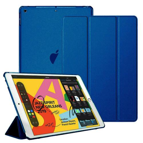 Apple iPad 10.2 7th Generation 2019  Navy blue Slim  PU Leather Stand Case