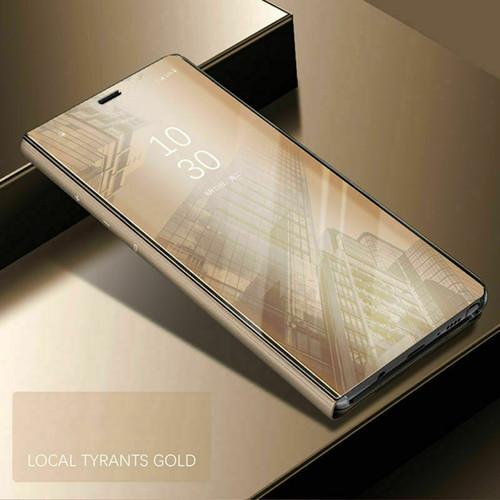 Samsung Galaxy S20 Gold Mirror Flip Stand Phone Case