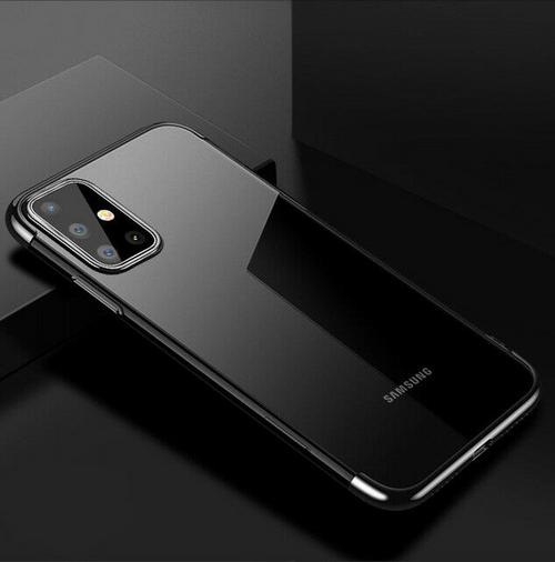 Samsung Galaxy S20  Black Silicone Gel Shockproof Back Cover