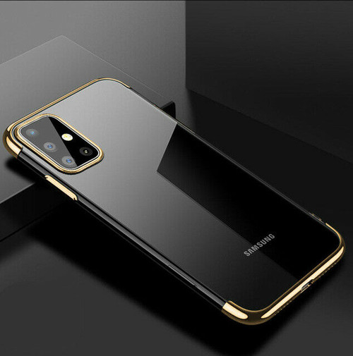 Samsung Galaxy S20  Gold Silicone Gel Shockproof Back Cover