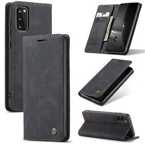 Samsung Galaxy S20  Black Luxury Leather Wallet Flip Cover