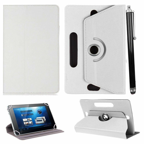 Amazon Kindle Fire  HD 8 (2017) White Folio Leather  Stand  Case