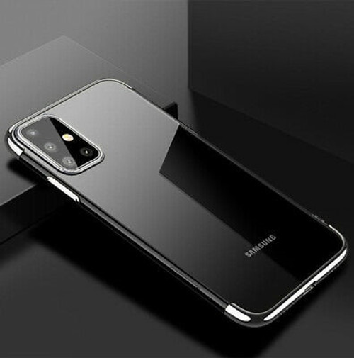 Samsung Galaxy S20 Plus Silver Silicone Gel Shockproof Back Cover