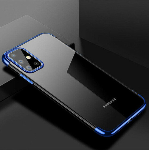 Samsung Galaxy S20 Plus  Blue Silicone Gel Shockproof Back Cover