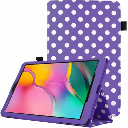 Samsung Galaxy Tab A 2019 10.1 T510 T515 Polka Purple Stand Case