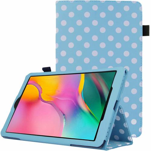 Samsung Galaxy Tab A 2019 10.1 T510 T515 Polka Sky Blue Stand Case