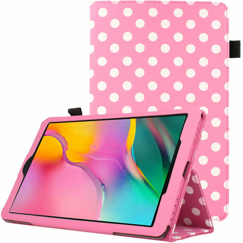 Samsung Galaxy Tab A 2019 10.1 T510 T515 Polka Baby Pink Stand Case
